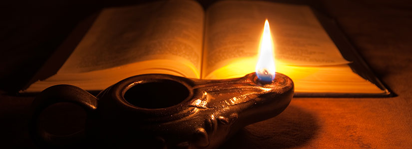 lamp and bible - photo #1